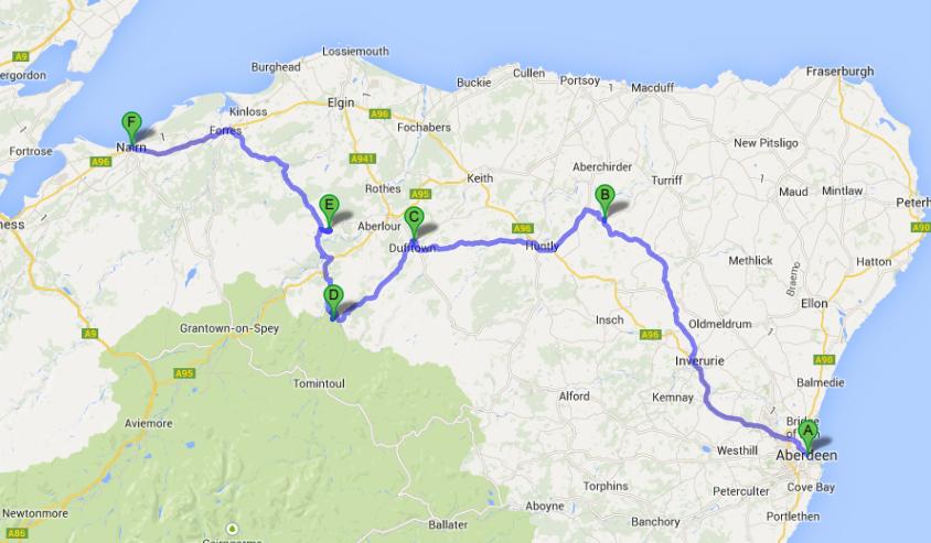 Nairn Scotland Map.Scotland Tour Day 2 Glendronach Glenlivet Cardhu And Nairn